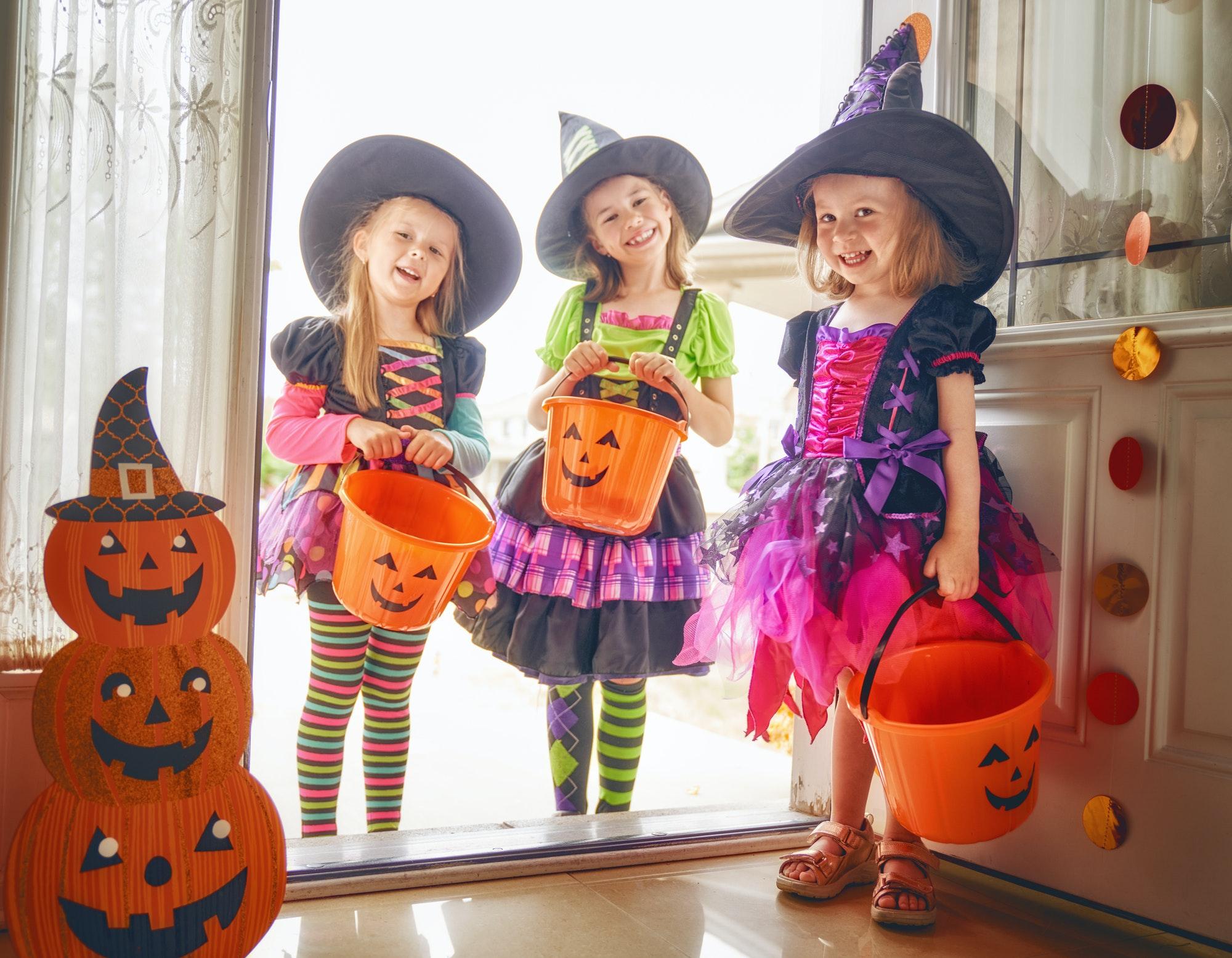 children on Halloween